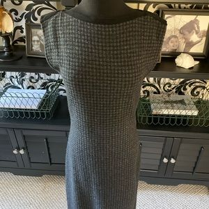 Lauren Ralph Lauren gray/black houndstooth dress